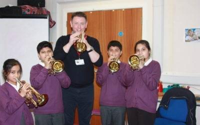 Thornbury pupils blow their own trumpets